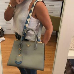 96bf601fb7f1 Prada Bags - Prada Saffiano Greca Paradigm tote